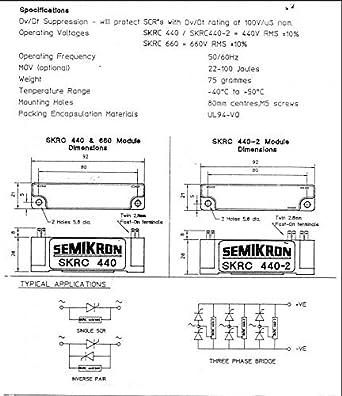 Amazon.com: semikron skrc 440 440 V unidad con único RC Red ...