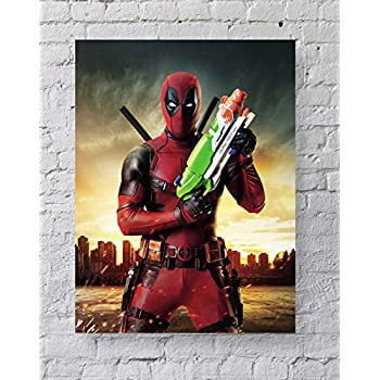 MeiMeiZ Deadpool Poster Standard Size | 18-Inches by 24-Inches |Deadpool Posters Wall Poster Print