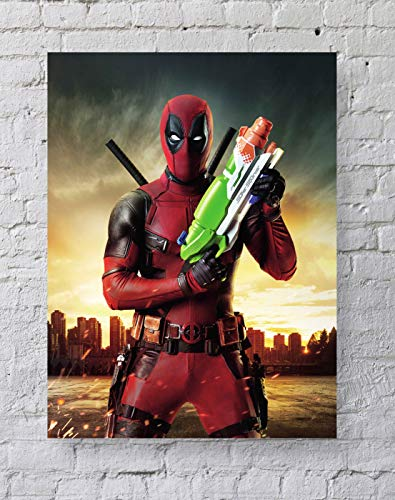 MeiMeiZ Deadpool Poster Standard Size | 18-Inches by 24-Inches |Deadpool Posters Wall Poster Print -