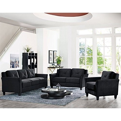 Lifestyle Solutions Hartford 3 Piece Microfiber Sofa Set in ()