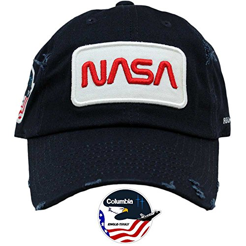 FIELD GRADE Skylab NASA Hat Special Edition Patch (Navy Worm Distressed)