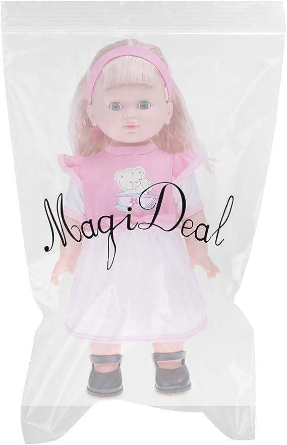 "Black Hair MagiDeal Vinyl Baby Girl Doll Reborn 12/"" African American Doll"