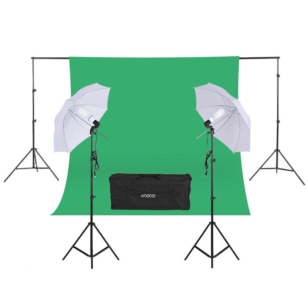 Andoer Photo Video Portrait Studio Softbox Umbrellas Continuous Lighting Kit for Studio Photography Portrait Lighting and Video Lighting