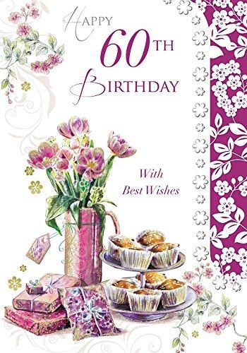 Fiori 60 Anni.Eta 60 Femmina Fiori Pasticcini E Regali Di Compleanno 19 1 X