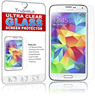 [2-PACK] Samsung Galaxy S5 Screen Protector - Tempered Glass - Package Includes Microfiber Cleaning Wipe and 2 x Tempered Glass Screen Protectors - by TruShield