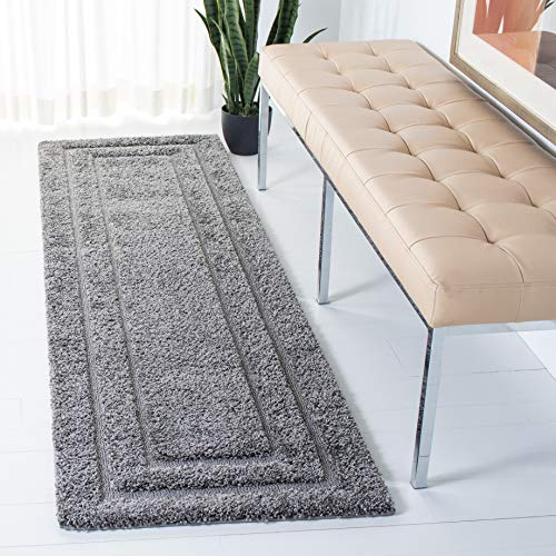 Safavieh Shadow Box Shag Collection SG454-8080 Grey Runner (2