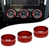 Motoparty AC Climate Control Knob Ring Covers For