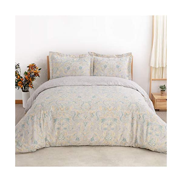 Bedsure Printed Duvet Cover Set with Zipper Closure Super Soft Microfiber Comforter Cover Bedding Sets