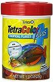 Tetra 77248 TetraColor PLUS Tropical Flakes, 1-Ounce, 185 ml