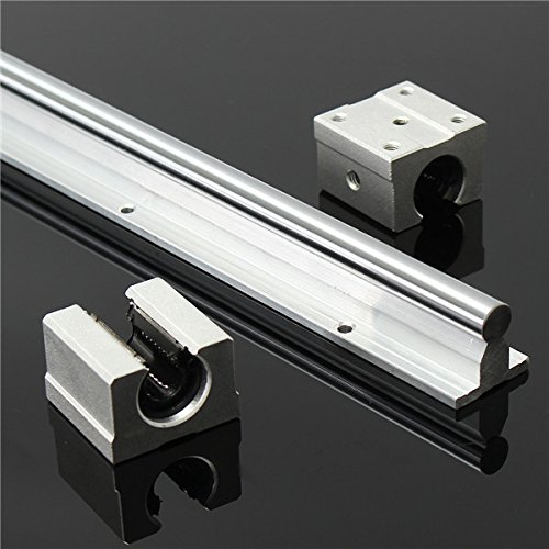 Supported Shaft Rail - Hitommy SBR12 800mm Supported Linear Rails Shaft Rod With 2pcs SBR12UU Block Bearing