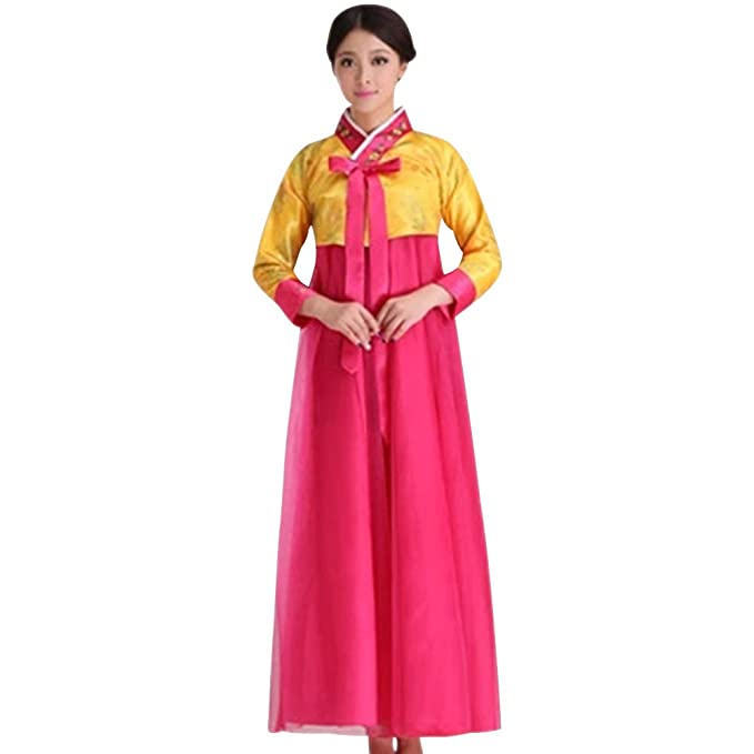 5a80886e2 KINDOYO Mujer Trajes Tradicionales Hanbok - Manga Larga Bordado Vestido for  Ceremonia y Eventos