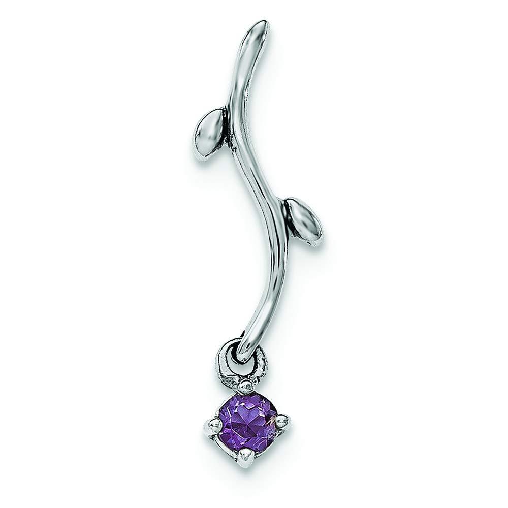 Sterling Silver Amethyst Dangle Charm Pendant