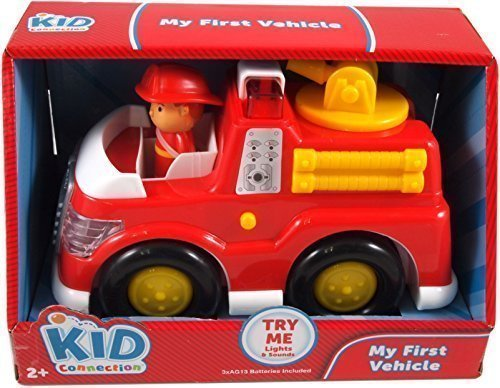 Kid Connection My First Vehicle Fire Truck - great firetruck for pre-schoolers with lights & sounds by Kid Connection