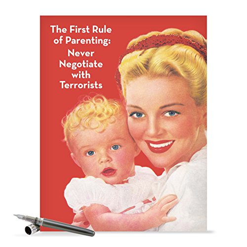 J0230 Jumbo Funny Mother's Day Card: First Rule of Parenting With Envelope (Extra Large Version: 8.5'' x 11'')