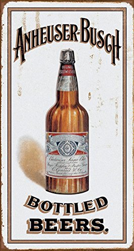 Anheuser Busch   Bottled Beers Metal Tin Sign   8X16