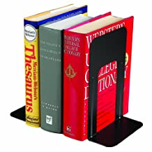 Steelmaster Economy Steel Bookends, 9 Inch Backs, 1 Pair, 5.94 x 9 x 8.19-Inch, Black (241009004)