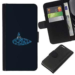 """A-type (Submarino Reloj"""") Colorida Impresión Funda Cuero Monedero Caja Bolsa Cubierta Caja Piel Card Slots Para Apple iPhone 5C"""