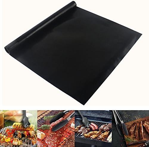 EXTSUD 3 Pcs 40x100cm Tapis de Cuisson pour Barbecue et Four 100% Anti-adhérent Tapis Feuille BBQ pour Barbecue à gaz Charbon ou électrique