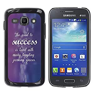 Paccase / SLIM PC / Aliminium Casa Carcasa Funda Case Cover para - Success Purple Blue Inspiring Quote - Samsung Galaxy Ace 3 GT-S7270 GT-S7275 GT-S7272