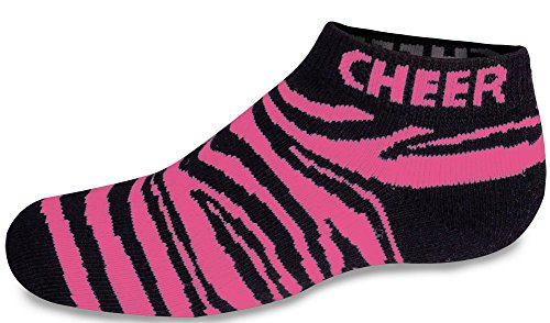 Chassé Women's Animal Print Low Anklet Cheer Socks - Pink Zebra Adult