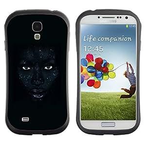 Paccase / Suave TPU GEL Caso Carcasa de Protección Funda para - African Woman Night Eyes Lips - Samsung Galaxy S4 I9500