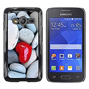 Exotic-Star ( Love Heart & Stone ) Fundas Cover Cubre Hard Case Cover para Samsung Galaxy Ace4 / Galaxy Ace 4 LTE / SM-G313F