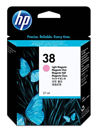 HP 38 Light Magenta Pigment Original Ink Cartridge (C9419A) DISCONTINUED BY MANUFACTURER