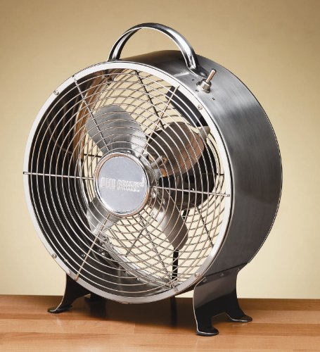 Deco-Breeze-Round-Retro-Table-Fan-Stainless-Steel-12-12-Inch-by-10-Inch