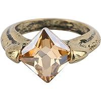 TAOHOU Cool Horcruxes Resurrection Stone Retro Bronze Crystal Ring