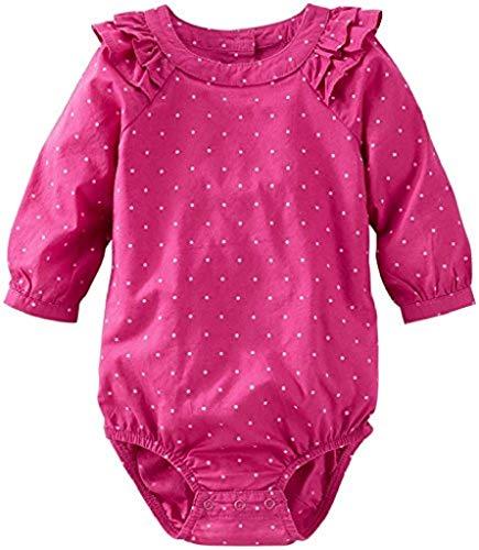 - OshKosh B'Gosh Baby Girls' Woven Ruffle Bodysuit (Baby) - Pink - 6 Months