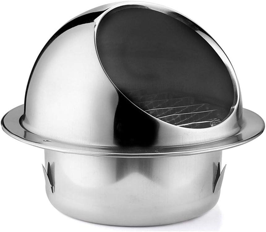 LXLTL Ronda Rejilla De Ventilación de Acero Inoxidable para Todos Los Sistemas de Ventilación de Ventilación De Pared,80mm: Amazon.es: Hogar