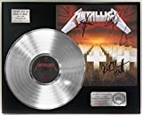"METALLICA MASTER OF PUPPETS PLATINUM LP LTD SIGNATURE RECORD DISPLAY ""C3"""
