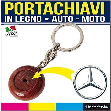Llavero Personalizado Coche Moto Madera Mercedes: Amazon.es ...