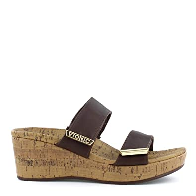 d30a62526e Vionic Women's Atlantic Pepper Adjustable Platform Sandal - Ladies Wedge  with Concealed Orthotic Arch Support Chocolate