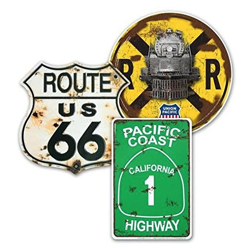 ArtEdge Tin Road Signs Set of 3, Union Pacific Size for sale  Delivered anywhere in USA
