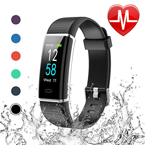 Letsfit Fitness Tracker Color Screen, Heart Rate Monitor Watch, IP68 Waterproof Pedometer Watch with Step Counter Calorie Counter Sleep Monitor, Activity Tracker for Kids Women Men