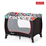 Hauck/Fisher Price Sleep'n Play Travel Cot / 40 x 29 x 32 in, Gumball Black