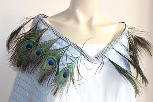 Peacock Bridal Cape-Baby Blue Crochet Bridal Cape /Blue Wedding Wrap Shrug Bolero/Hand Crochet Sparkle Mohair Scarf with Rhinestone by Istanbul Handmade Stuff