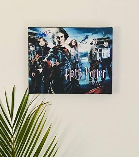 Harry Potter Cast Autographed RP 11x14 Canvas Print Wall Art