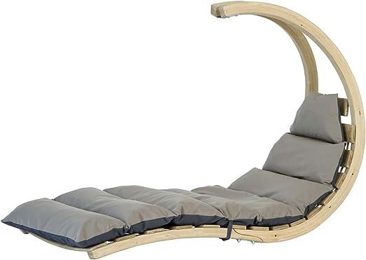 Globo Hangstoel Standaard.Amazonas Hangstoel Swing Lounger Antraciet Amazon Co Uk Garden