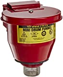"Justrite 08201 Steel Small Safety Drum Funnel with Self Closing Cover, 1 qt Capacity, 4-1/2"" Diameter x 4-1/2"" Height, For 5 Gallon Steel Pails with 2"" NPT"