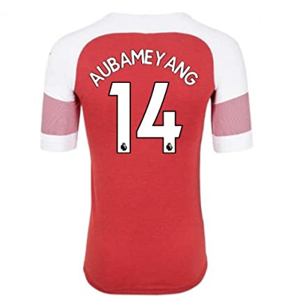 34fdc5771 Image Unavailable. Image not available for. Color  2018-2019 Arsenal Puma Home  Football Soccer T-Shirt Jersey (Pierre Emerick Aubameyang