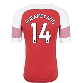 super popular 00476 63943 2018-2019 Arsenal Puma Home Football Soccer T-Shirt (Pierre ...