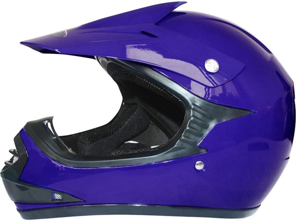 Casco/&Guanti L Tuta da Motocross per Bambini Leopard LEO-X15 Casco da Motocross per Bambini 3-4 Anni Guanti Completo da Uomo XS Blu Occhiali