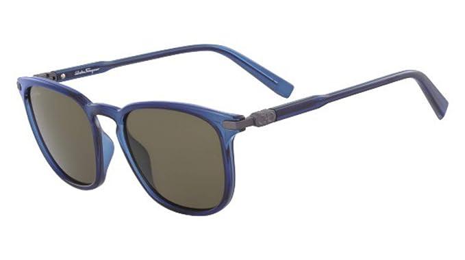 Amazon.com: Gafas de sol FERRAGAMO SF 881 S 414 azul: Clothing