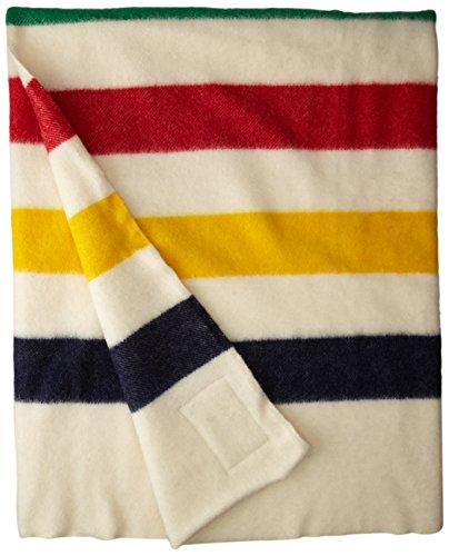 (Hudson Bay 4 Point Blanket, Natural with Multi Stripes)