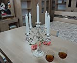 Fkduih Senior Silver White Glue Candlestick European Decoration Three Tin Alloy New Promotion,B