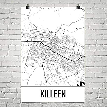 Killeen Map Killeen Art Killeen Print Killeen Tx Poster Killeen Wall Art Killeen Gift Map Of Texas Texas Poster Texas Decor Texas Poster 24 X36 Amazon Co Uk Kitchen Home