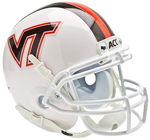 (NCAA Virginia Tech Hokies Collectible Alt 3 Mini Helmet, White)