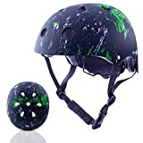Toys : Exclusky Kids Helmets Adjustable CE CPSC Certified Sports Child Helmet for Bike Cycling/Scooter/BMX/Skating - Ages 5+ (Black)